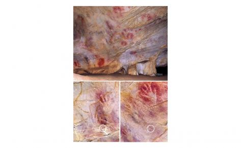 Paret de les mans de la cova d'El Castillo