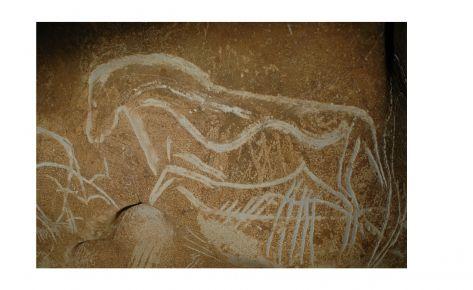 Panell del cavall gravat