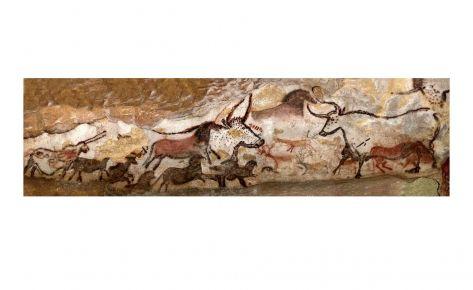 Fresc dels toros, paret esquerra