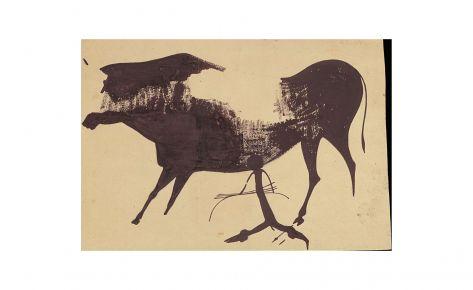 Arquero y toro de una agrupación de figuras arrancadas