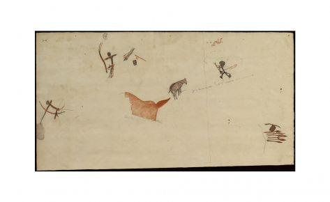 Arqueros, cesto y flechas