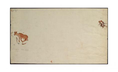 Arqueros persiguiendo a un animal herido
