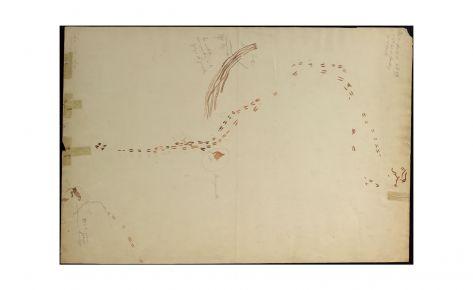 Arqueros siguiendo un rastro de huellas