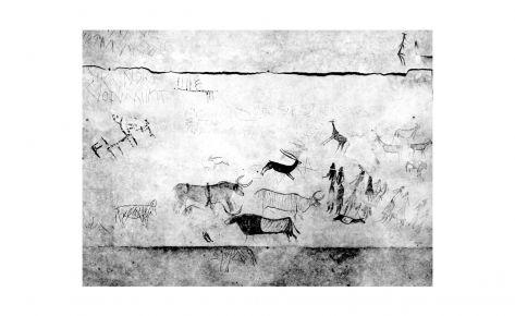 Panel con pinturas levantinas y esquemáticas