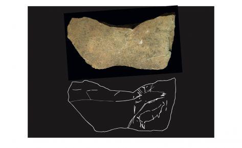 Plaqueta gravada (cérvol i cérvola)